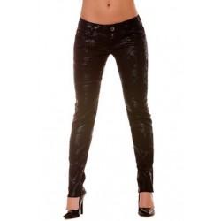 Pantalon à fleurs - Noir