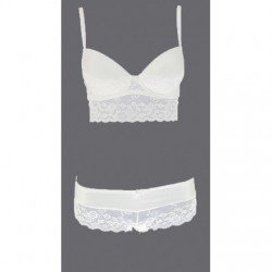Ensemble push up culotte- - Blanc