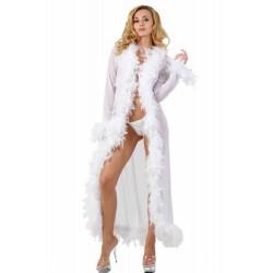 Robe de chambre en plume-Blanc