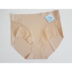 Culotte taille haute invisible-beige
