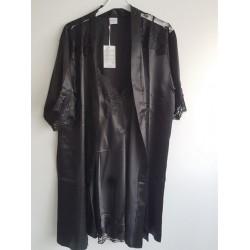 Ensemble chemise de nuit 2 Pièces-Noir