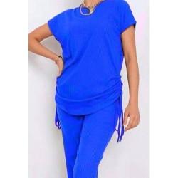Ensemble 2 pièces loungewear-Bleu roi