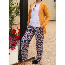 Pyjama 3 Pièces printemps-été-Moutarde