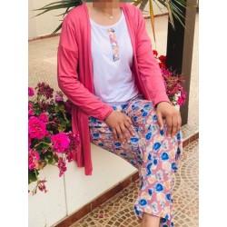 Pyjama 3 Pièces printemps-été-Turquoise