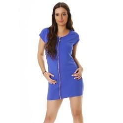 Robe zipper entièrement - Bleu Royal