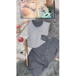 Ensemble pyjama homme pantacourt coton